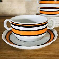 Thomas Scandic Orange 1 Suppentasse mit Untertasse, mehr da 70er Jahre Pop Art