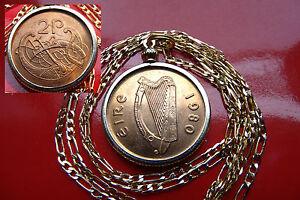"Mint Bird of KELLS 1980 IRELAND LUCKY HARP Pendant on a 24"" Gold Filled Chain"