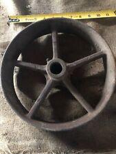 Vintage Cast Iron Flat Belt Pulley 10�x2 1/2� Gas Engine Steam Saw Mill Hit Miss