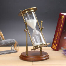 15 Minutes Metal  Hourglass Sandglass Table Ornament Home Decoration Gift
