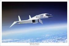 "North American XB-70 Valkyrie Aviation Art Print 16"" x 24"""