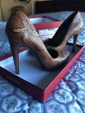 Salvatore Ferragamo size 8 high heels / pump python