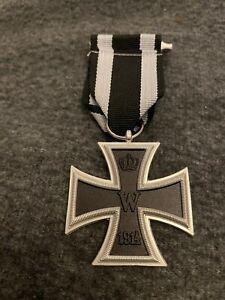 Iron Cross Medal German WW1 2nd Class 1914 with ribbon Reproduction Replica