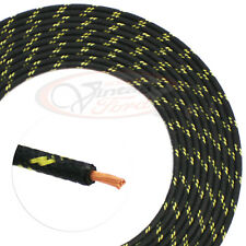 Vintage Car Truck Wire Cloth Automotive 8Ft Hot Rod Black 2Yellow Wiring Harness