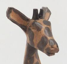 Vintage Hand Carved Giraffe Wood Figurine Statue Sculpture Hand Painted