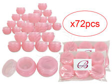 72 Pieces 10 Gram/10ml Pink Round Frosted Sample Jars with Inner Liner and Lid