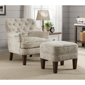 Beige Pulaski Slipcover Barrel Back Chair w//Castors Accent Seating