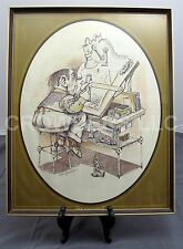 "Gary Patterson #1405 ""The Engineer"" 16""x20"" Framed Poster 1975 Thought Factory"