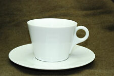 LAVAZZA PURAFORMA rare White Logo Cappuccino  Coffee Cup & Saucer Rosenthal