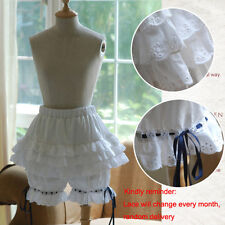 Lolita Cosplay Layered Lace Pumpkin Bubble Bloomer Safety Shorts Under Pants