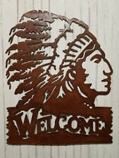 Welcome Indian Metal Sign/Lodge decor/Cabin decor/Home decor