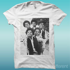 "T-SHIRT "" MICHAEL JACKSON FAMILY "" WHITE THE HAPPINESS IS HAVE MY T-SHIRT NEW"