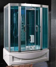 Box doccia Idromassaggio 150x90 cabina con Vasca Sauna Bagno Turco luci led |09