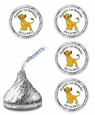 108 LION KING BIRTHDAY PARTY CANDY KISSES FAVORS WRAPPERS STICKERS SUPPLIES