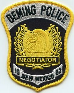 DEMING NEW MEXICO NM Hostage Negotiator POLICE PATCH