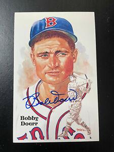 Bobby Doerr signed Perez Steele Post Card HOF (Ninth Series). Deceased
