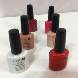 CND Shellac UV Color Coat ~ .25 fl oz ~ NEW 6 Bottles