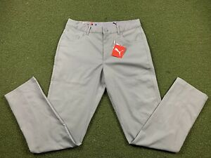 Puma Jackpot 5 Pocket Golf Pants Quiet Shade Grey Mens SZ 32 x 32 ( 599245 04 )