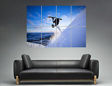 Snowboard Extrem Sport Freestyle Mural  Art Poster Grand format A0 Large Print