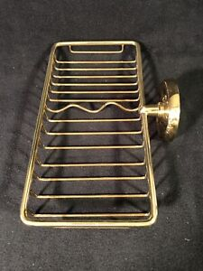 Smedbo Villa Brass Bathroom Soap Basket
