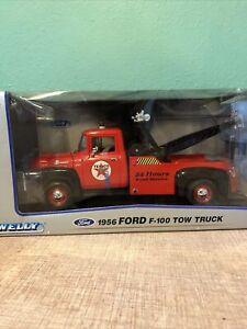 Welly Ford 1956 F-100 Tow Truck texaco NIB NO. 19834W 1:18 scale diecast car