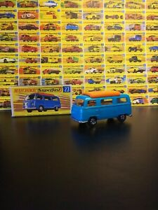 Matchbox Lesney #23 Volkswagon Camper Superfast In Original Box VM
