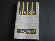 PEUGEOT brochure catalogue document interne VP-VU concurrence - 1988 - très rare