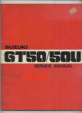 Genuine Suzuki GT50 (1977-on) Factory Work Shop Repair Manual Book GT 50 U