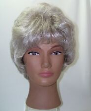 Henry Margu Wig Short Grey White Hair Curly Lots of Body Layered Front Lace Wig