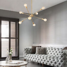 8 Lights Modern Sputnik Chandelier Ceiling Pendant Lamp Glass Light Fixture 110V