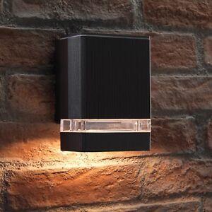 Auraglow Super Bright Indoor / Outdoor IP44 Up or Down Wall Light - Black