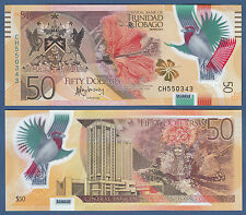TRINIDAD & TOBAGO 50 Dollars 2015 Polymer UNC P.56