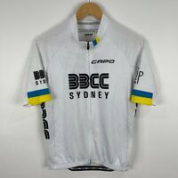 Capo Mens Cycling Jersey XL Slim White Short Sleeve Zip Front