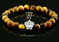 Tiger Eye Braun 0 5/16in Bracelet Pearl Bracelet Silver Coated Crown