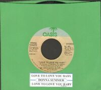 Summer, Donna - Love To Love You Baby Vinyl 45 rpm record Free Ship