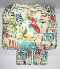 "Pottery Barn (4) Piece Duvet Set ~ Tropical Island ~ 84"" x 82"" Full"