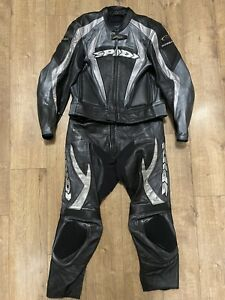 """SPIDI Y71 2 Piece Suit Motorcycle Leather Jacket 42"""" 44"""" Trousers W38"""" L28"""" READ"""
