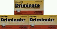 Major Driminate 50mg for Motion Sickness (Compare to Dramamine) -100ct - 3 Pack