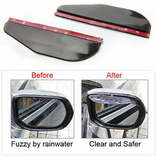 Smoke Rear View Side Mirror Flexible Sun Visor Shade Rain Water Guard Protector