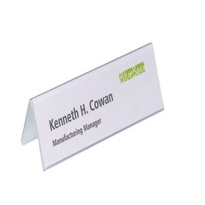 Durable Table Place Name Holder 61x210mm (Pack of 25) 8052/19 [DB81055]