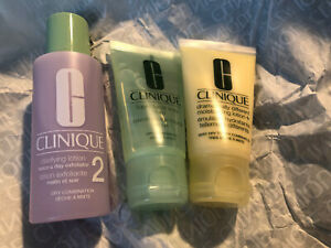 CLINIQUE 3 Step Skin Care Travel Size Kit Skin Type 2 (NEW - NO BOX)