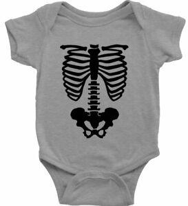 Baby Bodysuit Infant One Piece Gift Rib Cage Pelvic Body Skeleton Halloween
