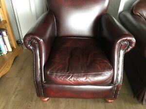 Oxblood Leather Thomas Lloyd Cigar / Club Chair / Armchair