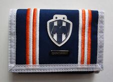 Men's Monterrey Soccer Sport Wallet, New Navy White Tri-Fold Zippped Wallet FMF