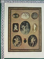 c1930 FRENCH PRINT L'ILLUSTRATION ~ VARIOUS CAMEO STYLES SUBJECTS