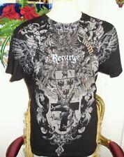 Resurge Black Casual T-shirt, Size Medium, Short Sleeve,Cotton
