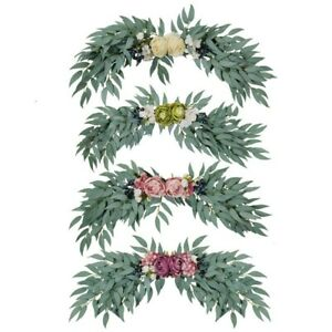 Artificial Wreath Fake Willow Leaves Door Hanging Holidays Wedding Decoration