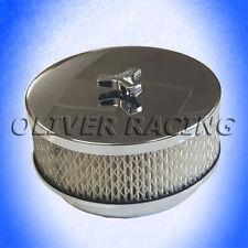 """Chrom Luftfilter 6,5 x 3/"""" 165mm x 79mm MR.Gasket Hot Rod Tuning V8 Ami Filter US"""