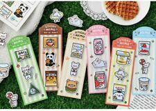 Lot 6 Cute Cartoon Cat Animal Sticky Notes Memo Pad Kawaii Stationery Sticker