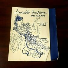 Luxable Fashion on Parade Styled by McCall Sewing Advertising Fold Out Program